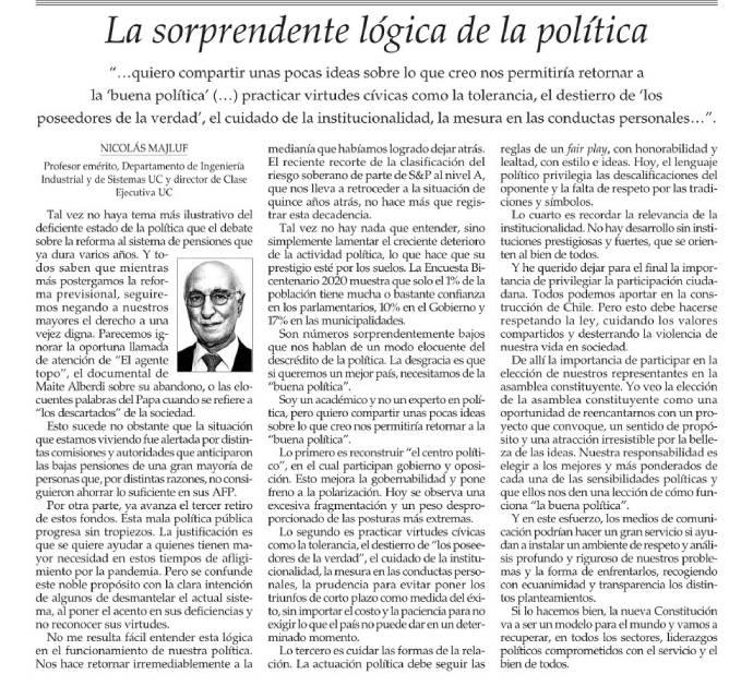 política, Nicolás Majluf